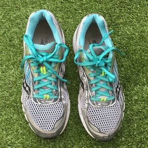 saucony power grid grey blue shoes